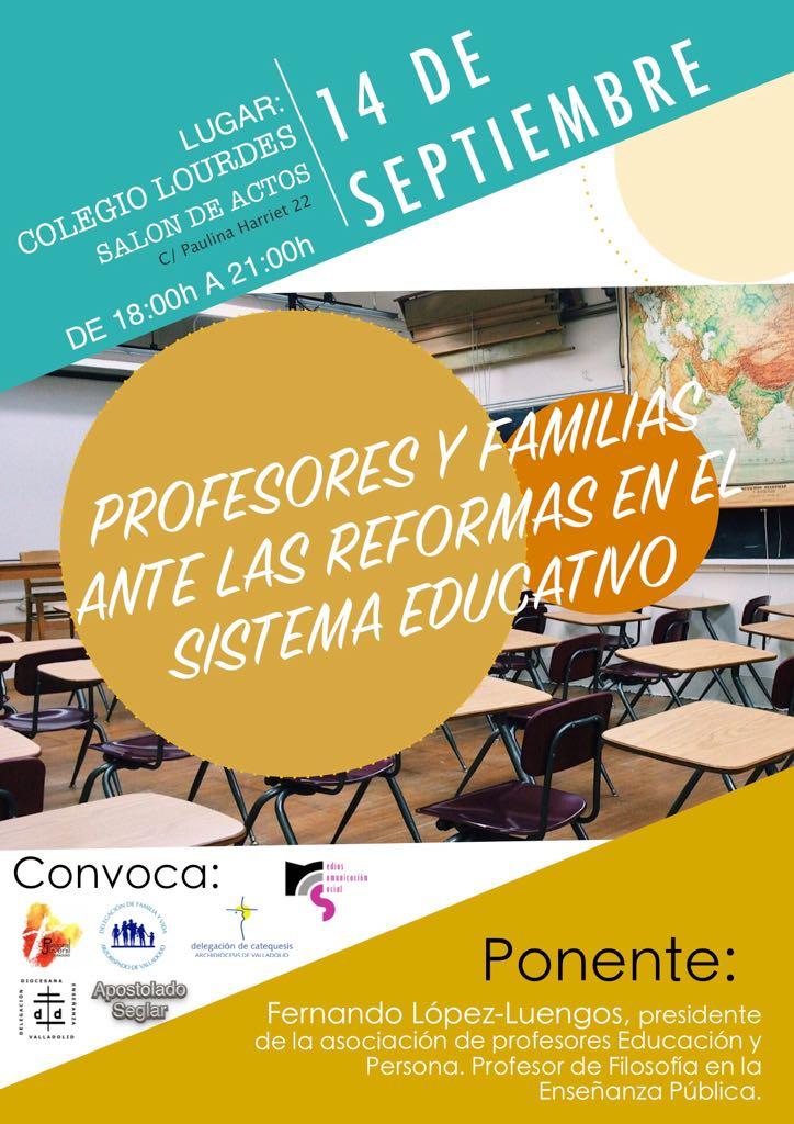 """Conferencia """"Profesores y familias ante las reformas del sistema educativo"""""""